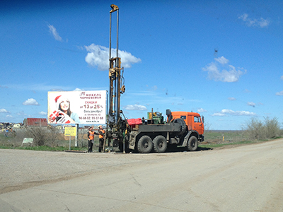Инженерно-геологические изыскания для строительства автодорог М-6